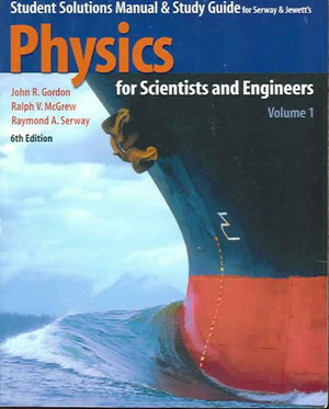 Cover of Student Solutions Manual & Study Guide to Accompany Physics for Scientists and Engineers