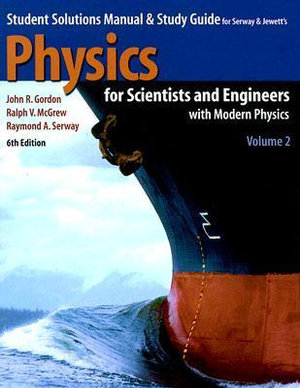 Cover of Student Solutions Manual and Study Guide for Serway and Jewett's Physics for Scientists and Engineers with Modern Physics Volume Two