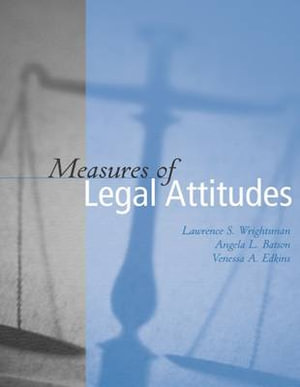 Cover of Measures of Legal Attitudes