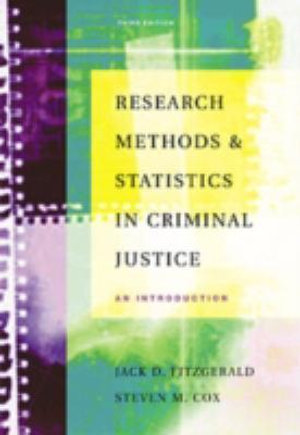 Cover of Research Methods and Statistics in Criminal Justice