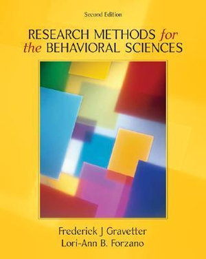 Cover of Research Methods For The Behavioral Sciences