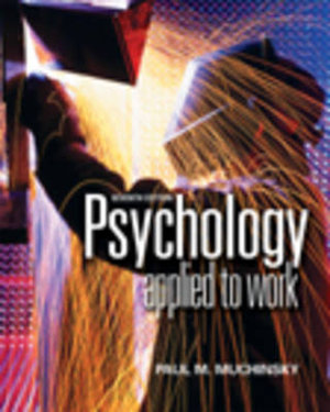 Cover of Psychology Applied to Work