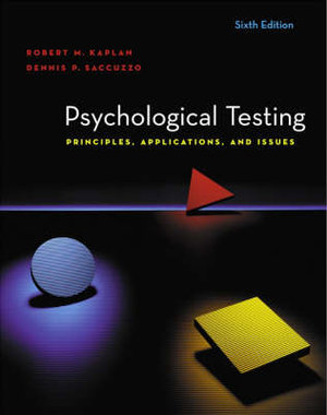 Cover of Psychological Testing: Principles, Applications, and Issues