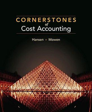 Cover of Cornerstones of Cost Accounting