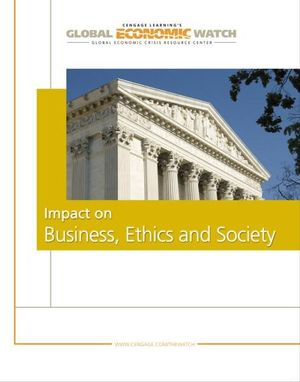 Cover of Global Economic Crisis: Impact on Business Ethics and Society