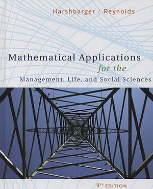 Cover of Mathematical Applications for the Management, Life, and Social Sciences
