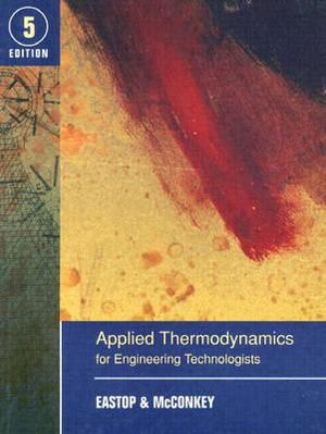 Cover of Applied thermodynamics for engineering technologists