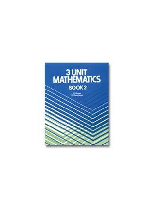 Cover of 3 Unit Mathematics