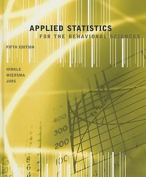 Cover of Applied Statistics for the Behavioral Sciences