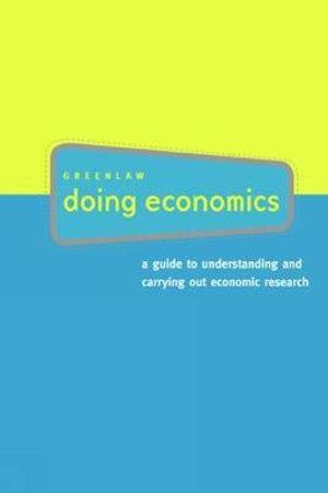 Cover of Doing Economics