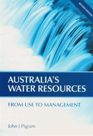 Cover of Australia's Water Resources