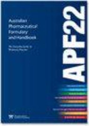 Cover of Australian Pharmaceutical Formulary and Handbook