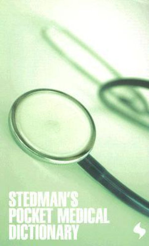 Cover of Stedman's Pocket Medical Dictionary