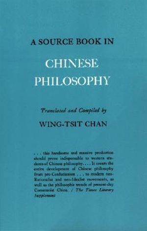 Cover of A Source Book in Chinese Philosophy