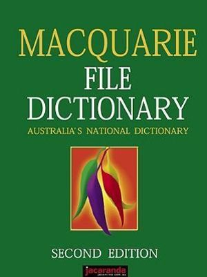 Cover of The Macquarie File Dictionary