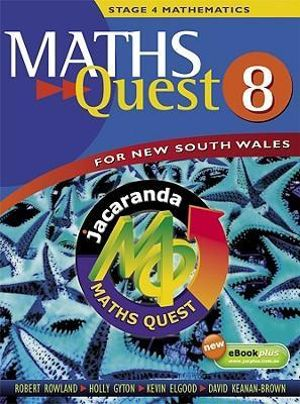 Cover of Maths Quest 8 for New South Wales