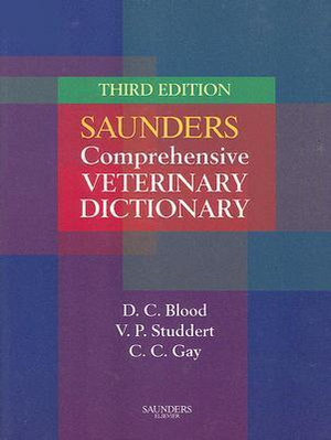 Cover of Saunders Comprehensive Veterinary Dictionary