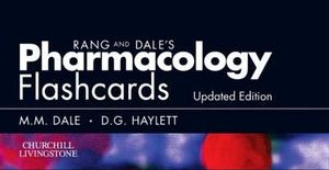 Cover of Rang & Dale's Pharmacology Flash Cards