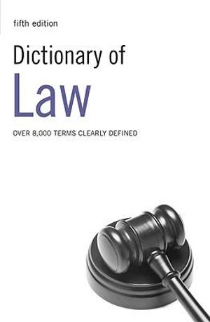 Cover of Dictionary of Law