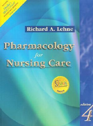 Cover of Pharmacology for nursing care