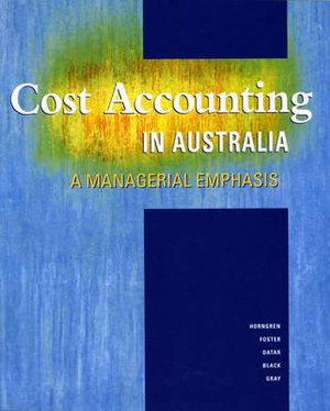 Cover of Cost Accounting in Australia
