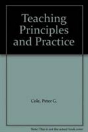Cover of Teaching Principles and Practice