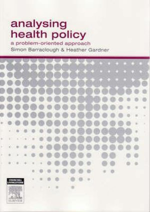Cover of Analysing Health Policy