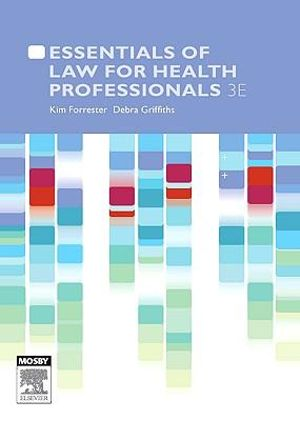 Cover of Essentials of law for health professionals 3e