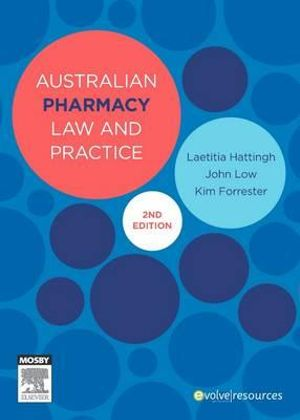 Cover of Australian Pharmacy Law and Practice