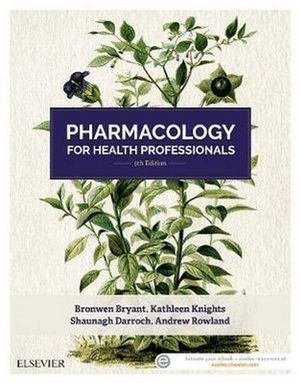 Cover of PHARMACOLOGY FOR HEALTH PROFESSIONALS.