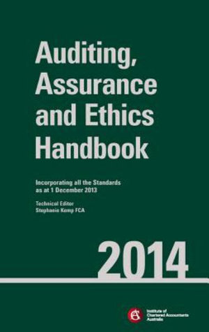 Cover of Chartered Accountants Auditing & Assurance Handbook 2014+Wiley E-text Registration Card Set