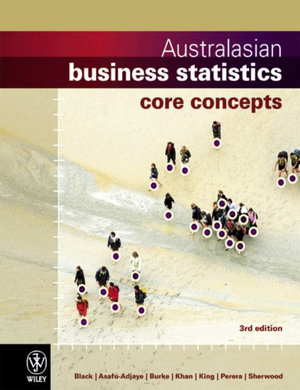 Cover of Australasian Business Statistics 3e Core Concepts + Australasian Business Statistics 3e Istudy Version 1 Card