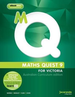 Cover of Maths Quest 9 for Victoria