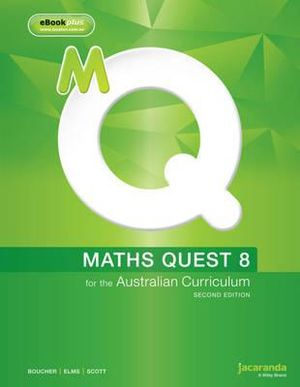 Cover of Maths Quest 8 for the Australian Curriculum 2E and EBookPLUS