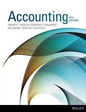 Cover of Accounting 9E+wileyplus Stand-alone Card
