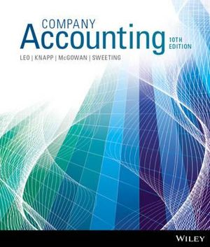 Cover of Company Accounting 10e+Wileyplus Stand-Alone Card