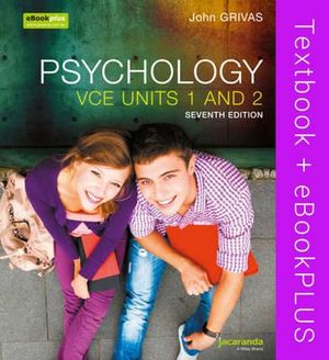 Cover of Psychology VCE Units 1&2 7E and EBookPLUS