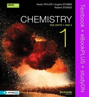 Cover of Chemistry 1 VCE Units 1 and 2 and EBookPLUS