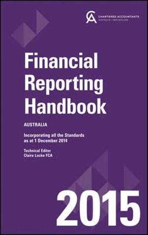 Cover of Financial Reporting Handbook 2015 Australia+wiley E-Text Registration Card