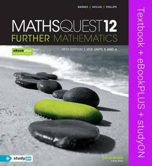 Cover of Maths Quest 12 Further Mathematics 5E and EBookPLUS