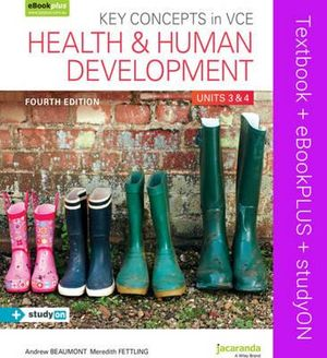 Cover of Key Concepts in VCE Health and Human Development Units 3&4 4E and EBookPLUS