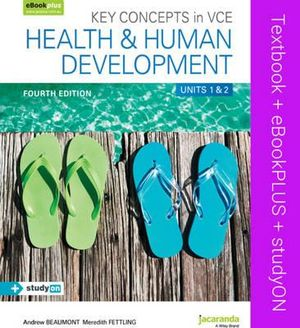 Cover of Key Concepts in VCE Health and Human Development Units 1&2 4E and EBookPLUS
