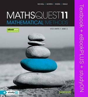 Cover of Maths Quest 11 VCE Mathematical Methods and EBookPLUS