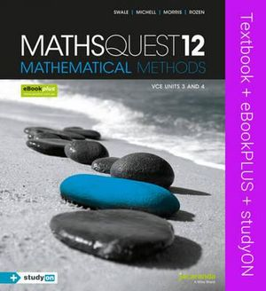 Cover of Maths Quest 12 VCE Mathematical Methods and EBookPLUS