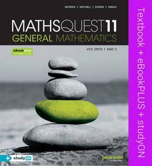 Cover of Maths Quest 11 VCE General Mathematics
