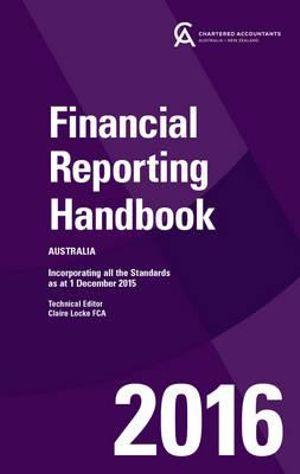 Cover of Financial Reporting Handbook 2016 Australia