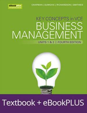 Cover of Key Concepts in VCE Business Management