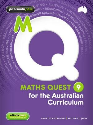 Cover of Maths Quest 9 for the Australian Curriculum
