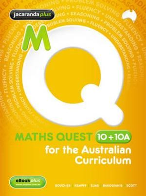 Cover of Maths Quest 10+10a for the Australian Curriculum and EBookPLUS