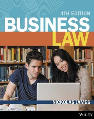 Cover of Business Law 4E (Black and White) Open Book Exam Companion with WileyPlus Learning Space Registration Code